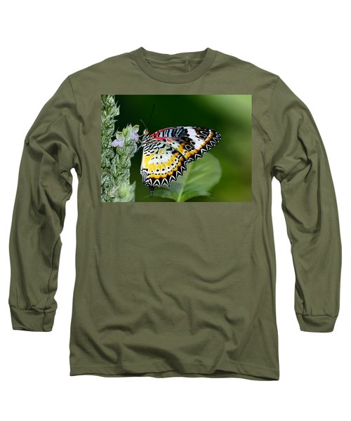 Malay Lacewing Butterfly Long Sleeve T-Shirt