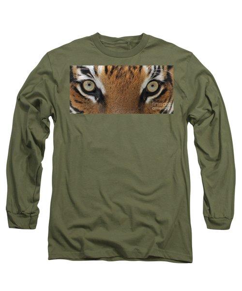 Malayan Tiger Eyes Long Sleeve T-Shirt