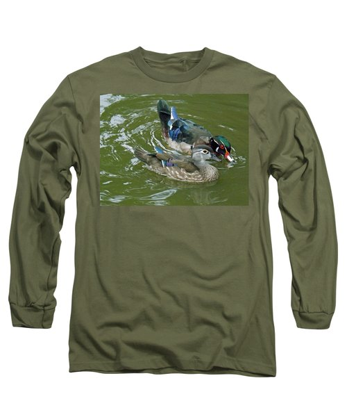 Male And Female Wood Ducks Long Sleeve T-Shirt