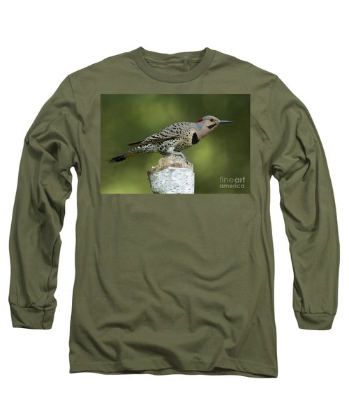 Male Northern Flicker Long Sleeve T-Shirt