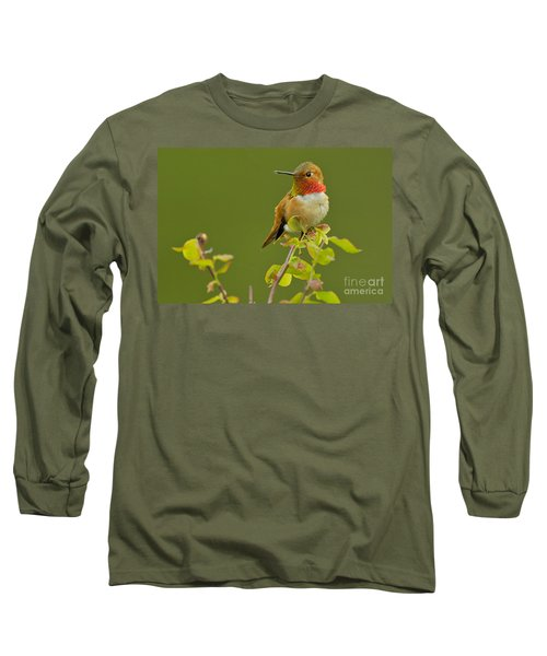 Male Rufous Hummingbird Long Sleeve T-Shirt