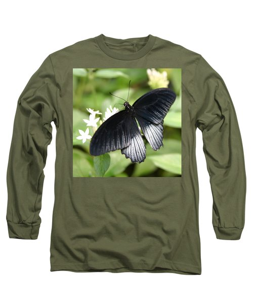 Male Scarlet Swallowtail Long Sleeve T-Shirt