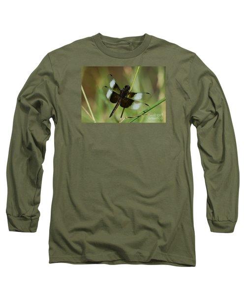 Male Widow Skimmer Dragonfly Long Sleeve T-Shirt