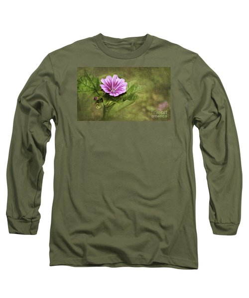 Mallow Hollyhock Long Sleeve T-Shirt