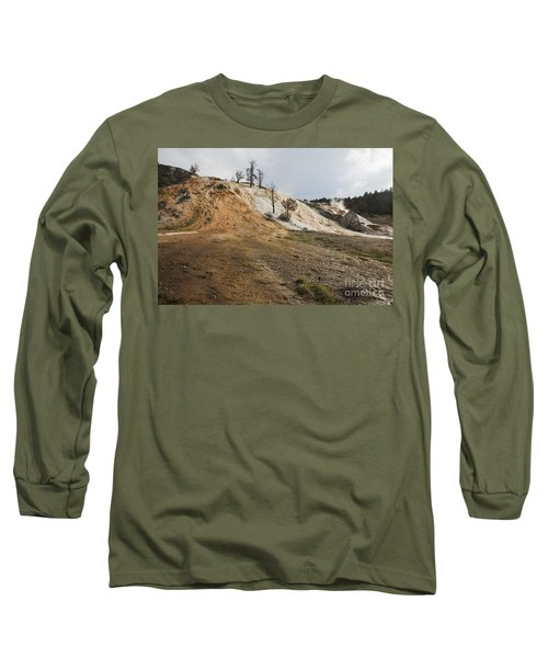 Long Sleeve T-Shirt featuring the photograph Mammoth Hot Springs by Belinda Greb