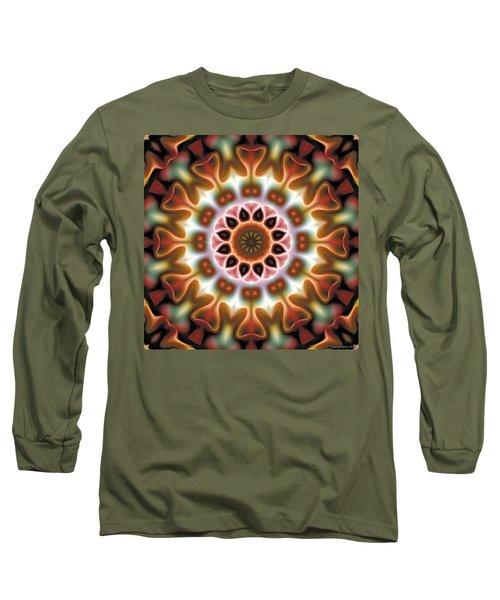 Long Sleeve T-Shirt featuring the digital art Mandala 67 by Terry Reynoldson