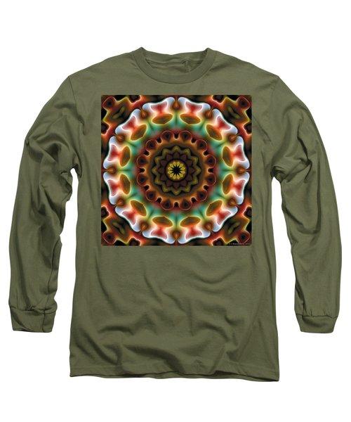 Long Sleeve T-Shirt featuring the digital art Mandala 74 by Terry Reynoldson