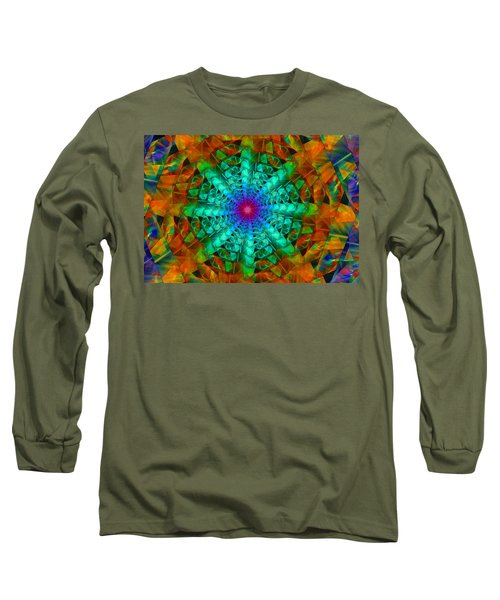 Long Sleeve T-Shirt featuring the digital art Mandala by Ester  Rogers