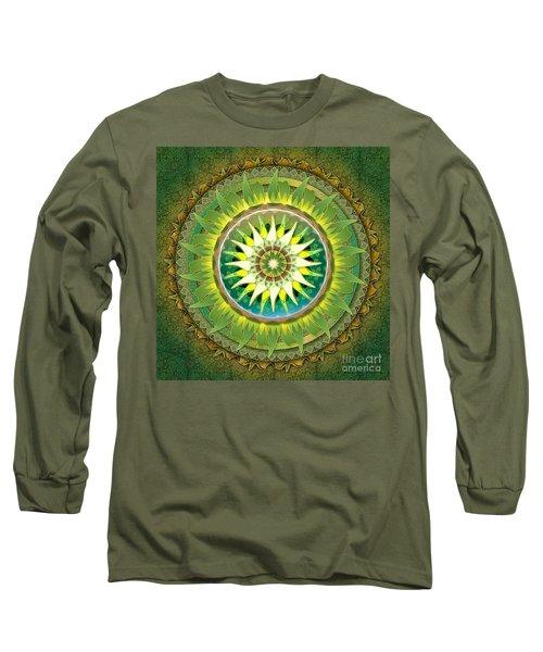 Mandala Green Long Sleeve T-Shirt