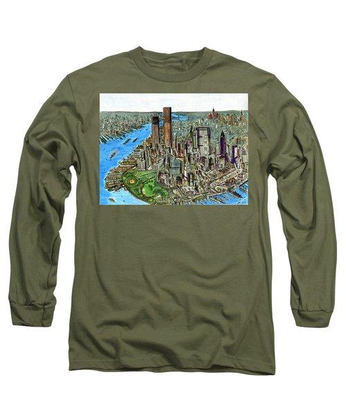 New York Downtown Manhattan 1972 Long Sleeve T-Shirt