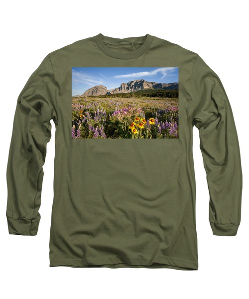 Long Sleeve T-Shirt featuring the photograph Many Glacier Spring by Jack Bell