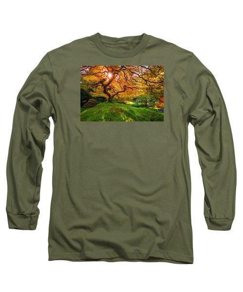 Maple  Long Sleeve T-Shirt by Dustin  LeFevre