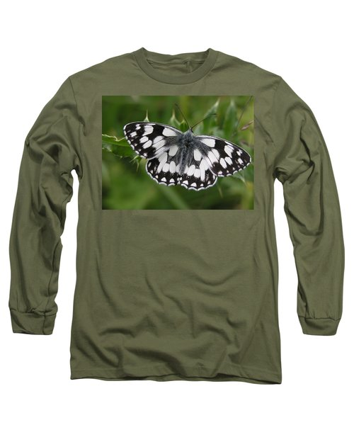 Marbled White Long Sleeve T-Shirt