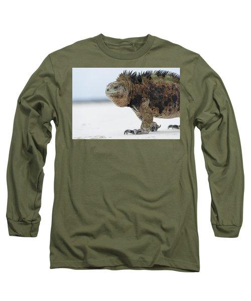 Marine Iguana Male Turtle Bay Santa Long Sleeve T-Shirt