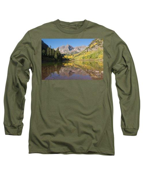 Maroon Bells In Autumn Long Sleeve T-Shirt