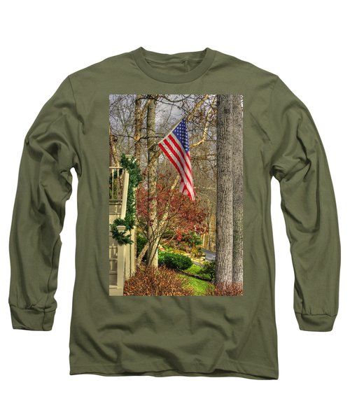 Maryland Country Roads - Flying The Colors 1a Long Sleeve T-Shirt by Michael Mazaika