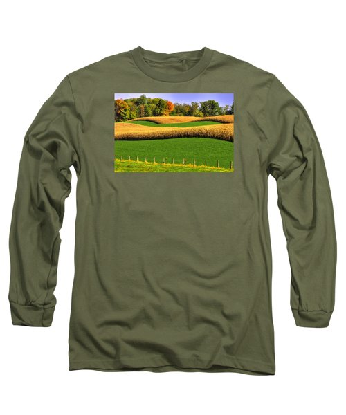 Maryland Country Roads - Swales Long Sleeve T-Shirt by Michael Mazaika