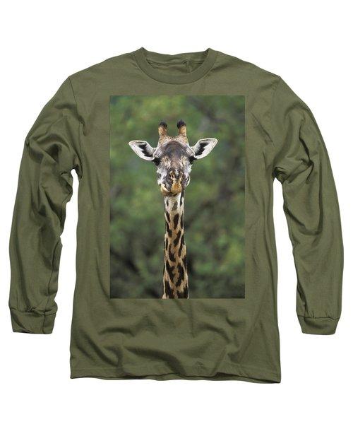 Masai Giraffe Serengeti Np Long Sleeve T-Shirt