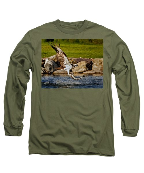 Long Sleeve T-Shirt featuring the photograph Master Fisherman by Jack Bell
