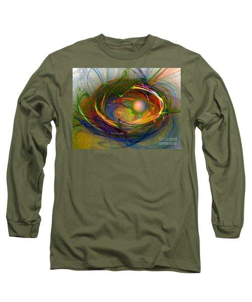 Melting Pot-abstract Art Long Sleeve T-Shirt