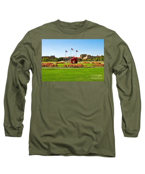Long Sleeve T-Shirt featuring the photograph Memorial Circle by Mae Wertz