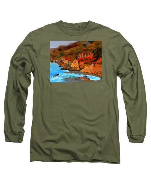 Mendocino Coast Long Sleeve T-Shirt by Alice Leggett