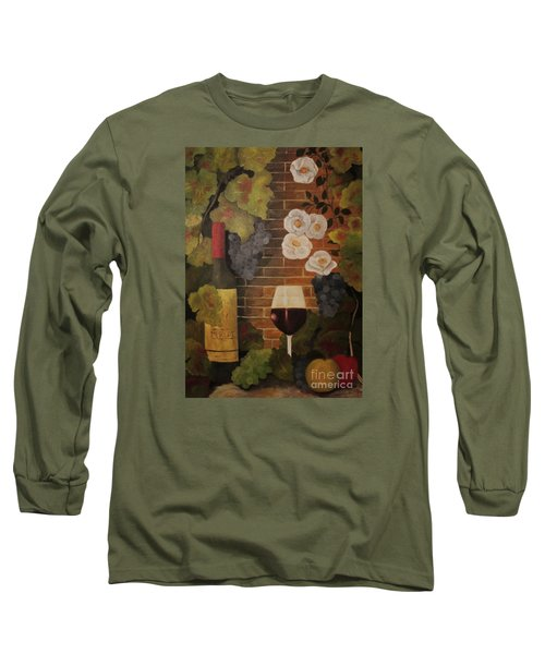 Merlot For The Love Of Wine Long Sleeve T-Shirt by John Stuart Webbstock