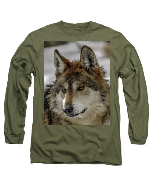 Mexican Grey Wolf Upclose Long Sleeve T-Shirt