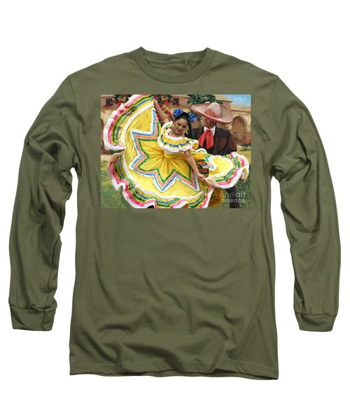 Mexicanhatdance Long Sleeve T-Shirt by Tim Gilliland