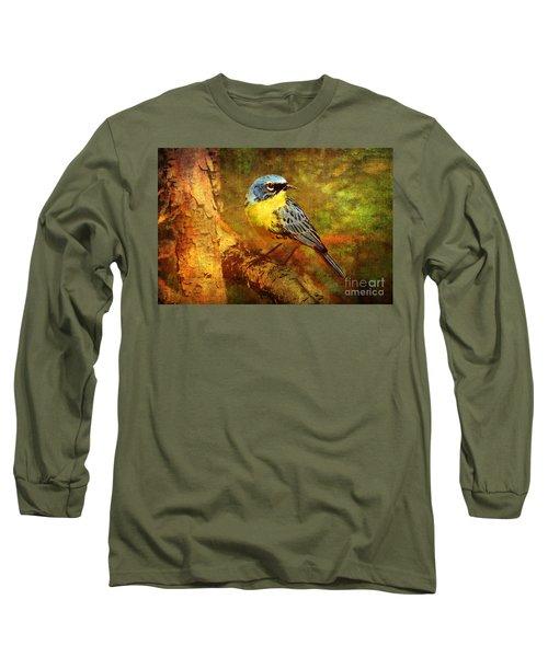Michigans Rare Kirtlands Warbler Long Sleeve T-Shirt