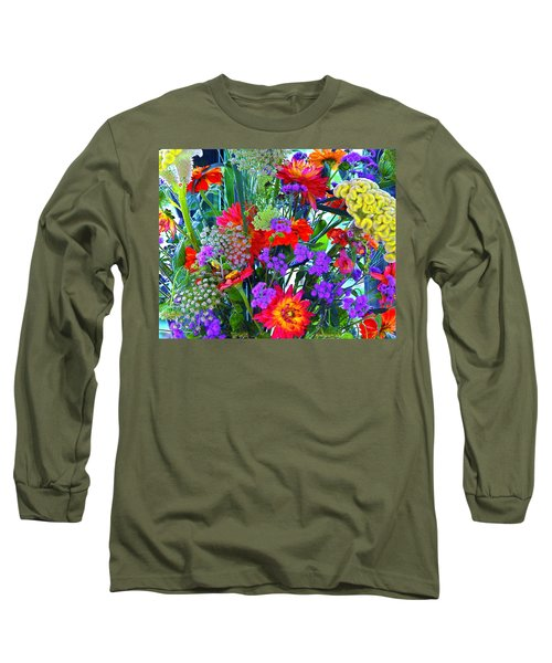 Long Sleeve T-Shirt featuring the photograph Mid August Bouquet by Byron Varvarigos