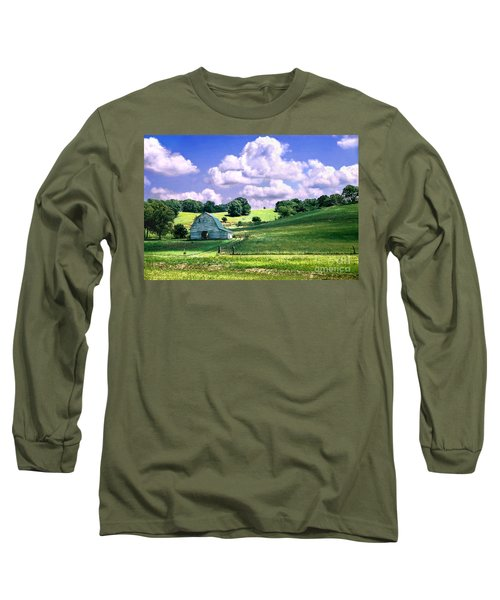 Missouri River Valley Long Sleeve T-Shirt by Steve Karol