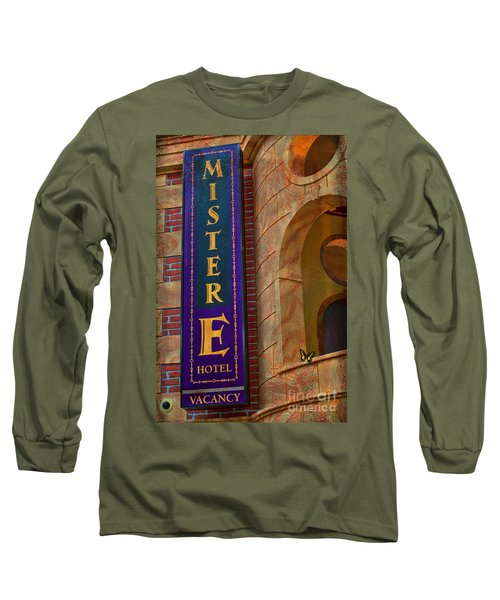 Mister E Hotel - Vacancy Sign Long Sleeve T-Shirt by Liane Wright