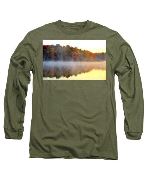 Misty Morning At Stoneledge Lake Long Sleeve T-Shirt by Terri Gostola