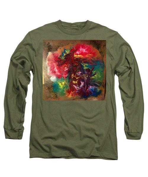 Mixed Media Abstract Post Modern Art By Alfredo Garcia Bizarre Long Sleeve T-Shirt