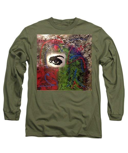Mixed Media Abstract Post Modern Art By Alfredo Garcia Eye See You 2 Long Sleeve T-Shirt
