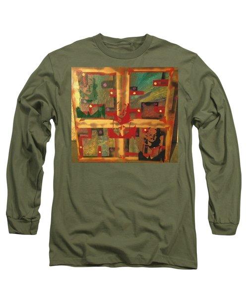 Mixed Media Abstract Post Modern Art By Alfredo Garcia The Blond Bombshell 3 Long Sleeve T-Shirt