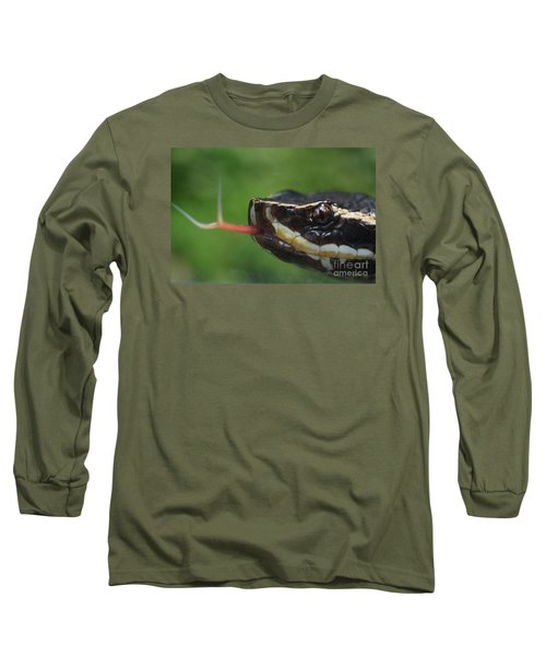 Long Sleeve T-Shirt featuring the photograph Moccasin Snake by Rudi Prott