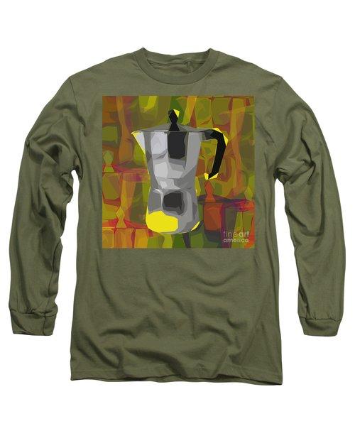 Moka Pot Long Sleeve T-Shirt by Jean luc Comperat
