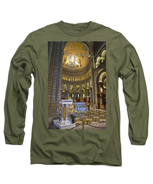 Long Sleeve T-Shirt featuring the photograph Monaco Cathedral by Allen Sheffield