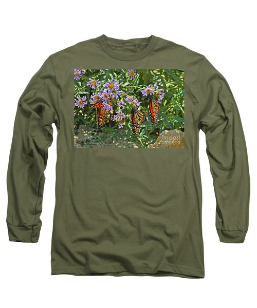 Monarch Butterfly Trio Long Sleeve T-Shirt