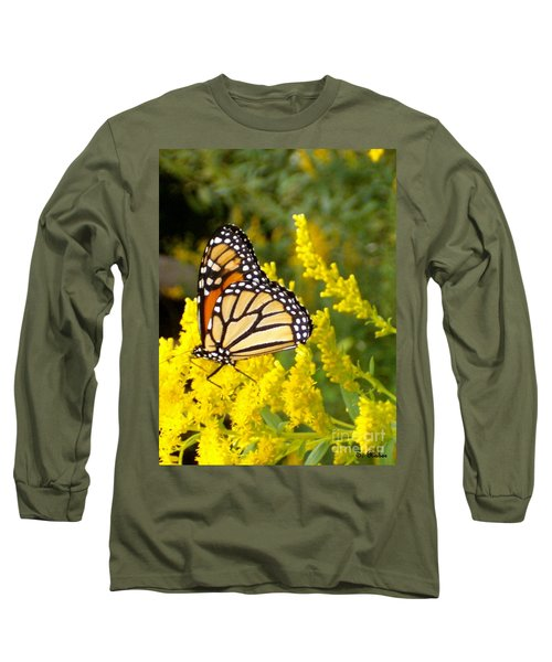 Long Sleeve T-Shirt featuring the photograph Monarch by Sara  Raber
