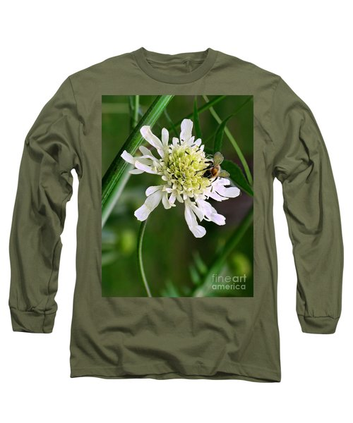 Long Sleeve T-Shirt featuring the photograph Monet's Garden Bee. Giverny by Jennie Breeze