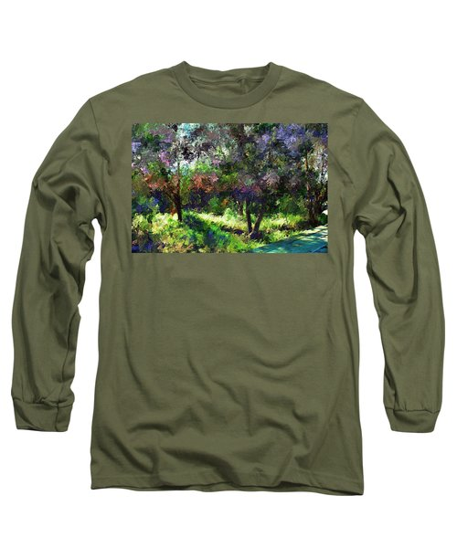 Monet's Garden Long Sleeve T-Shirt by Terence Morrissey