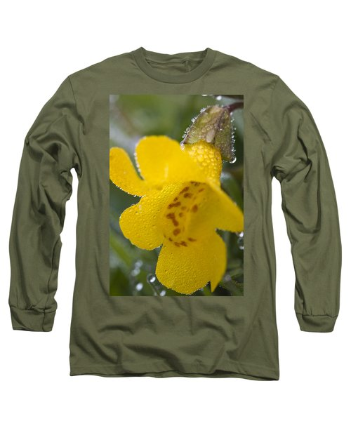 Long Sleeve T-Shirt featuring the photograph Monkey In Yellow by Sonya Lang