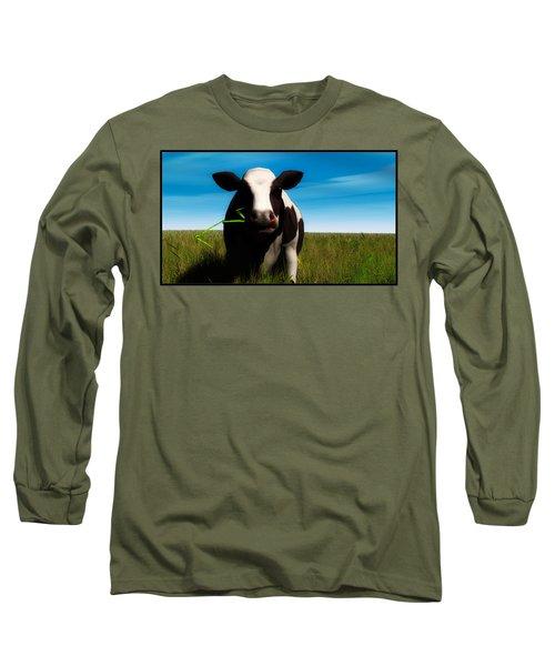 Long Sleeve T-Shirt featuring the digital art Moo... by Tim Fillingim