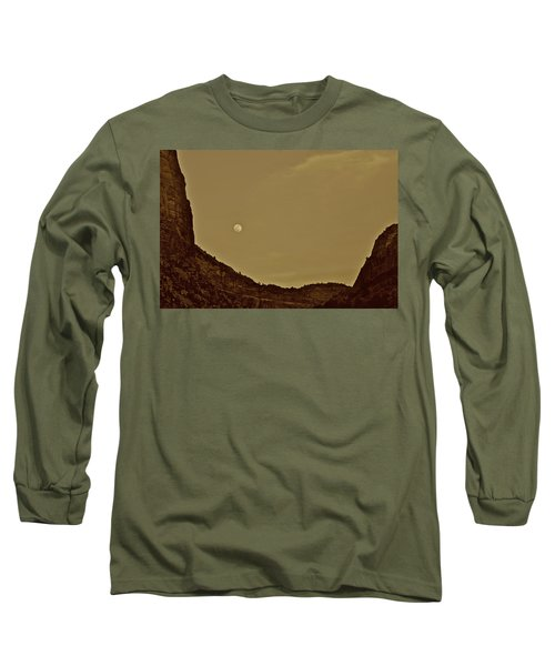 Moon Over Crag Utah Long Sleeve T-Shirt