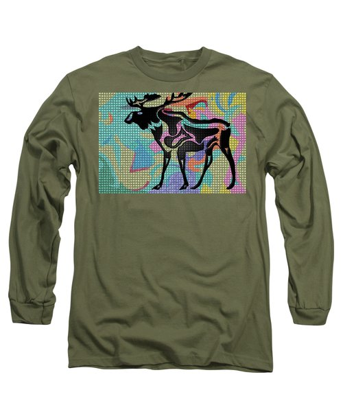Moose Tracks Long Sleeve T-Shirt by Robert Margetts