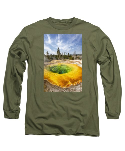 Morning Glory Pool In Yellowstone National Park Long Sleeve T-Shirt