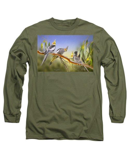 Morning Light - Cockatiels Long Sleeve T-Shirt